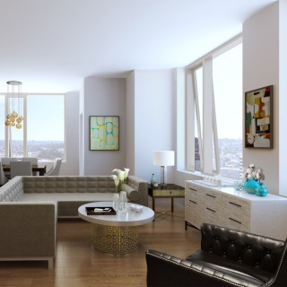 Luma Seattle Living Room Rendering