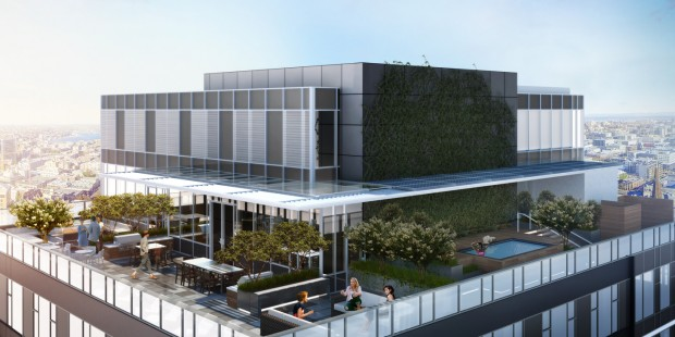 Luma Seattle - Rendering of the Rooftop Area