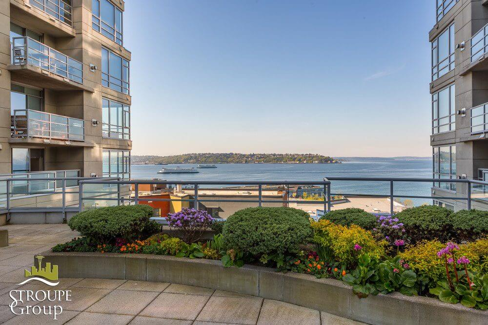 Concord condos Belltown Seattle terrace view