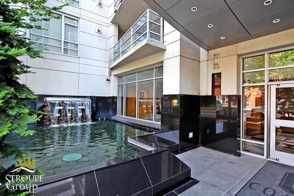 Concord condos Belltown Seattle water feature