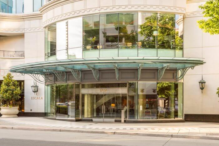 Escala condos Retail Core Seattle main entrance