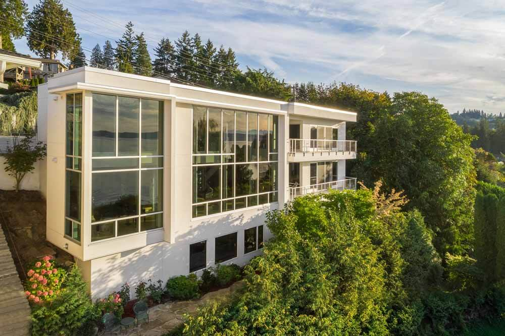 The Glass House At Possession Sound Stroupe Group Luxury