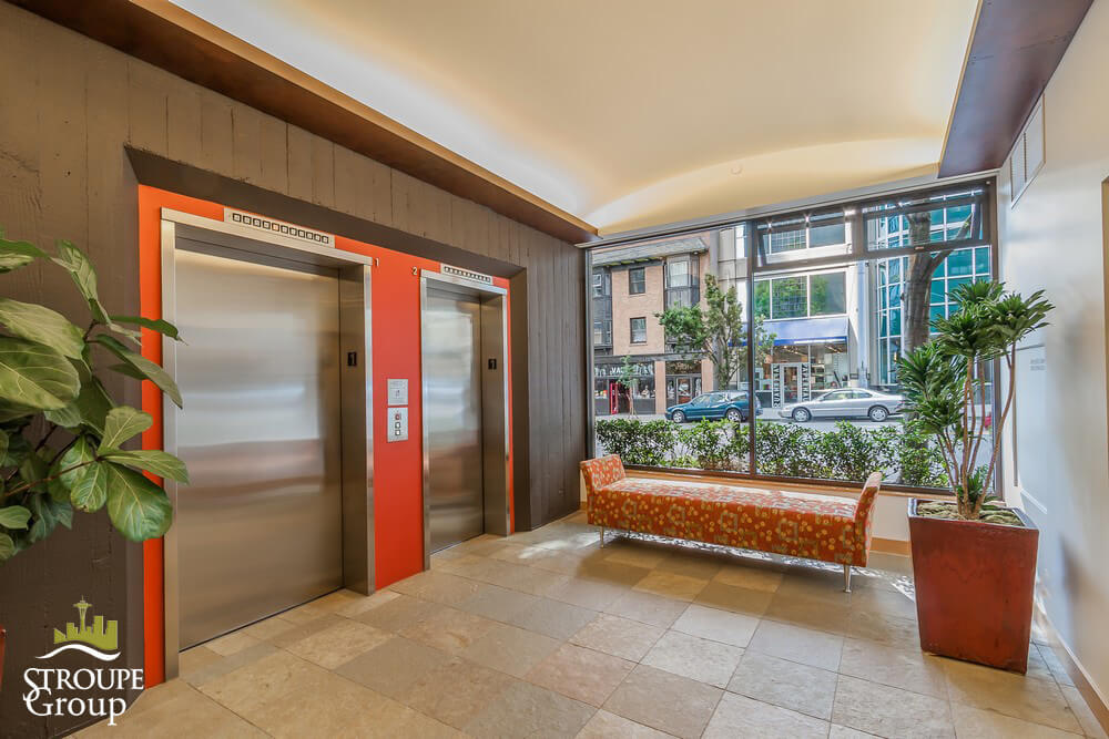 Market Place North condos Seattle elevator lobby