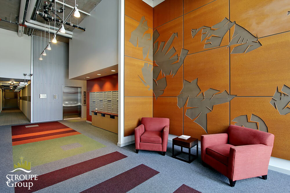 Veer Lofts condos South Lake Union Seattle lobby 2