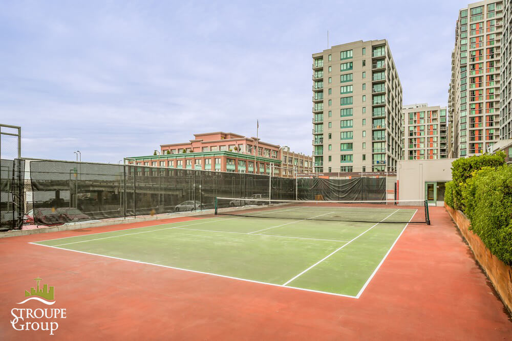watermark tower condo west edge seattle tennis court