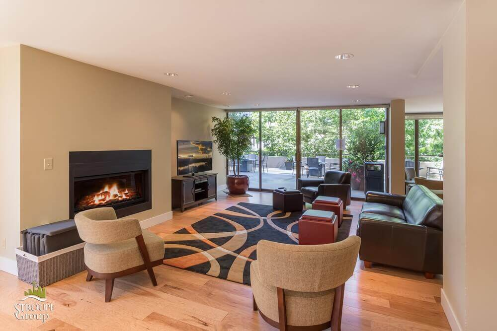 Royal Manor condos First Hill Seattle fireplace