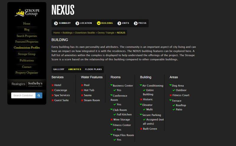 nexus amenities