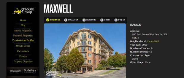 building profile spotlight the maxwell stroupe group luxury real estate - Real Estate Profile Summary