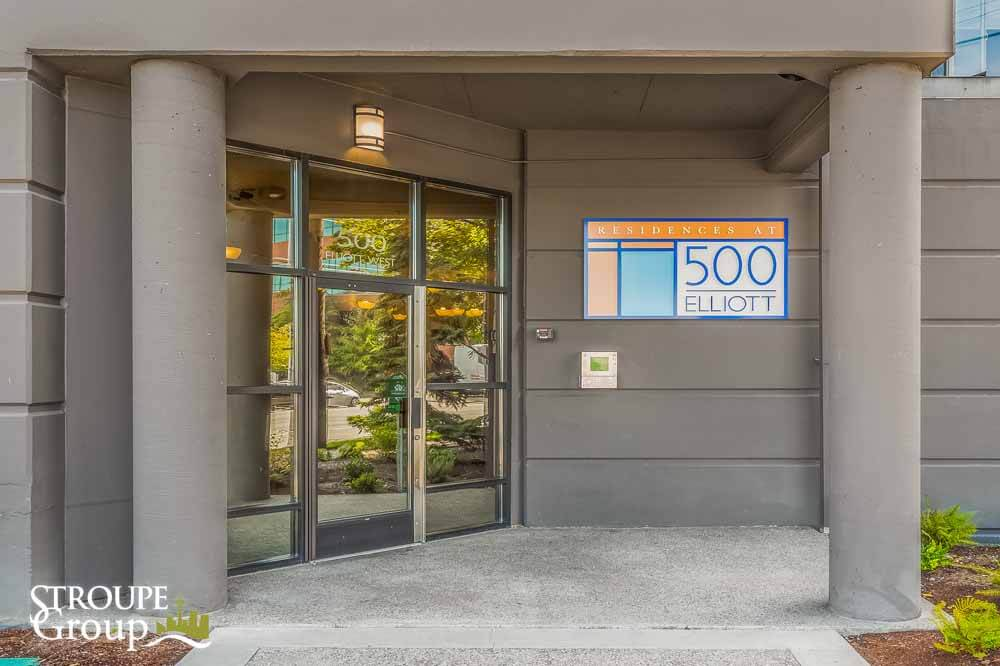 500 Elliott condos Seattle entrance