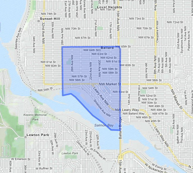 ballard  neighborhood map