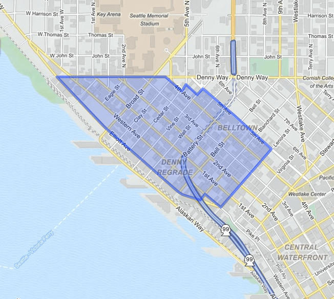 belltown  neighborhood map