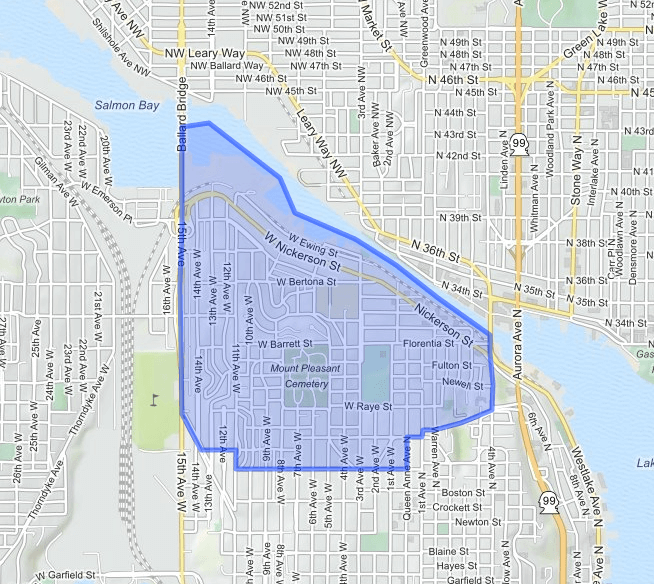 north-queen-anne  neighborhood map