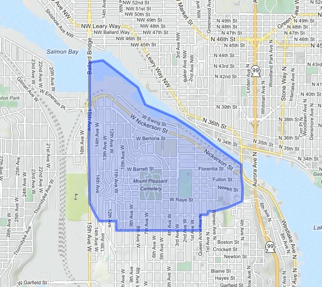 north-queen-anne  neighborhood map